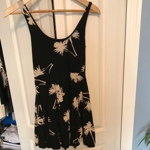 Black Dress with Palm Tree design